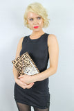 Leoni Leopard Print Clutch Bag