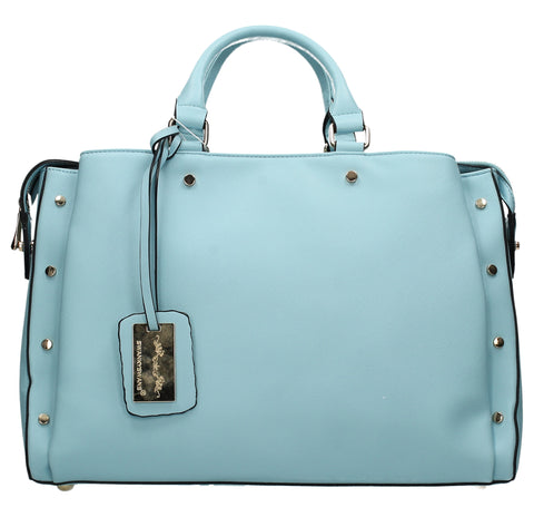 SWANKYSWANS Michelle PU Handbag Light Blue
