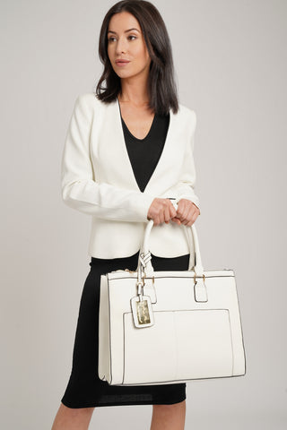 Naples Cosmo City Handbag White