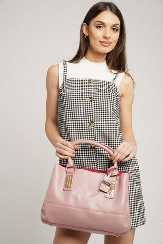 Kelly Two Tone Handbag Pink & Fuschia