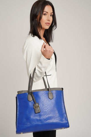 Stanton 2 in 1 Handbag Blue