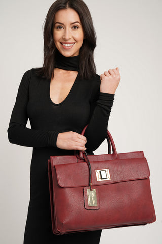 Elle Business Handbag Burgundy