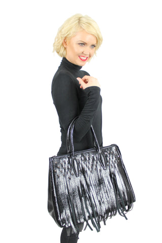 Holly Tassle Handbag Black