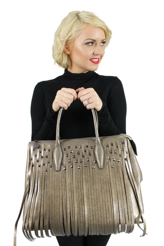 Holly Tassle Handbag Gold