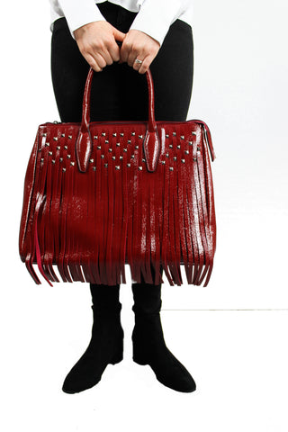 Holly Tassle Handbag Red