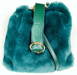 SWANKYSWANS Skye Faux Fur Large Cross body Bag Green