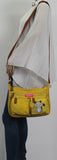 Swanky Swans Norma Handbag with Cat Motif MustardCheap Fashion Wedding Work School