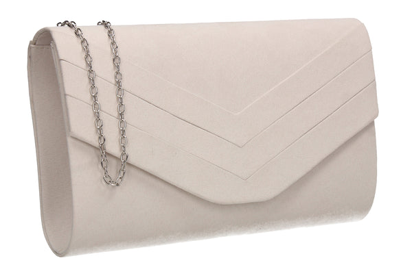 Samantha V Detail Clutch Bag Ivory