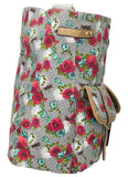 Hayley Dragonfly Floral Twin Pocket Satchel - Grey-SWANKYSWANS