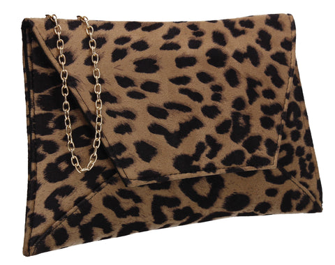 Dory Clutch Bag Light Leopard Brown