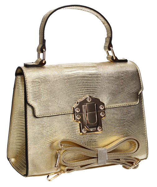 Swanky Swans Charlotte Handbag GoldPerfect for School, Weddings, Day out!