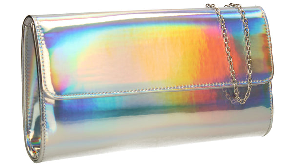 Cara Metallic Clutch Bag Hologram