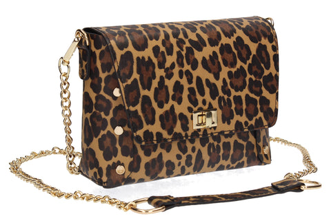 Victoria 2 in 1 Leopard Print Crossbody Belt Bag