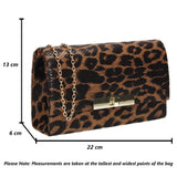 Tana Faux Leather Animal Style Clutch Bag Leopard Print