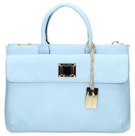 Elle Business Handbag - Light Blue-Handbags-SWANKYSWANS