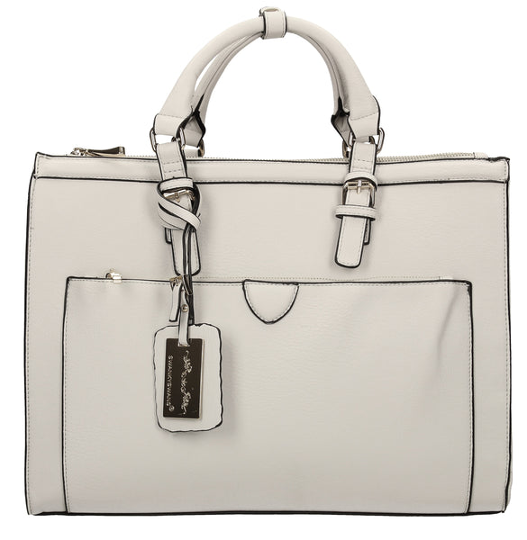 Swanky Swans Marcella Cosmo Handbag Light GreyPerfect for School, Weddings, Day out!