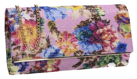 SWANKYSWANS Kyra Clutch Bag Lilac Cute Cheap Clutch Bag For Weddings School and Work