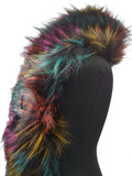 Lydia Winter Multicoloured Faux Fur Wrap Neck Warmer