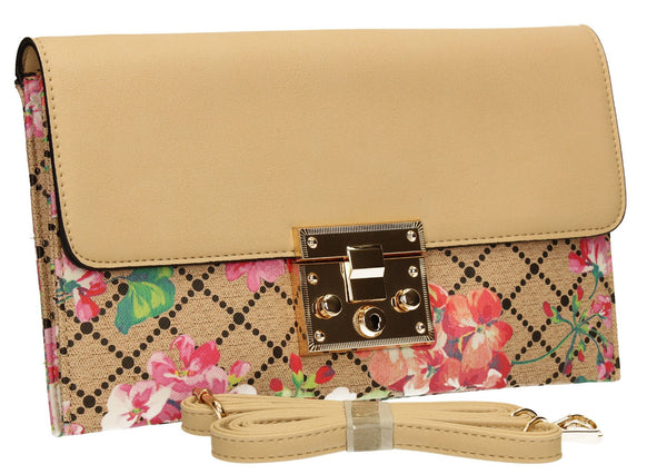 SWANKYSWANS Milly Clutch Bag Beige Cute Cheap Clutch Bag For Weddings School and Work