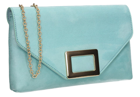 SWANKYSWANS Georgia Clutch Bag Mint Blue