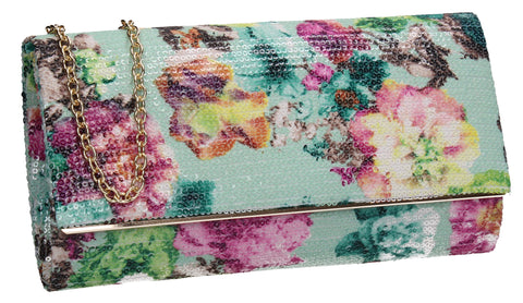 SWANKYSWANS Kyra Clutch Bag Mint Cute Cheap Clutch Bag For Weddings School and Work