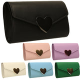SWANKYSWANS Corrie Heart Clutch Bag Lilac Cute Cheap Clutch Bag For Weddings School and Work
