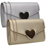 SWANKYSWANS Corrie Heart Clutch Bag Gold Cute Cheap Clutch Bag For Weddings School and Work