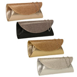 SWANKYSWANS Harman Glitter Diamante Clutch Bag Silver Cute Cheap Clutch Bag For Weddings School and Work