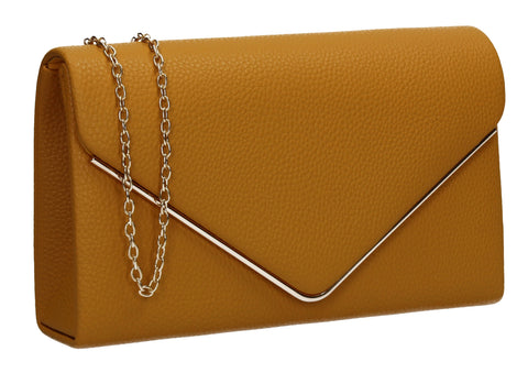 Erica Envelope Clutch Bag Mustard Yellow