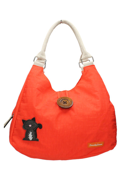 Camden Cat Nylon Shoulder Bag - Orange-Crossbody-SWANKYSWANS