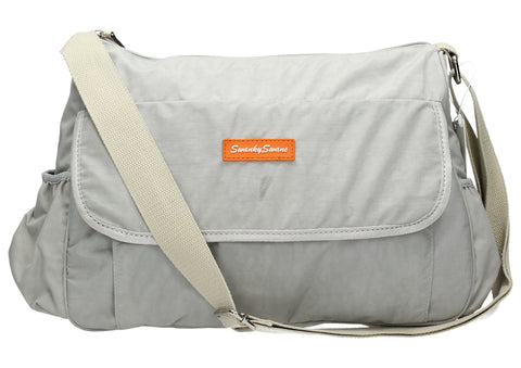 Joseph and Mary Baby Changing Satchel - Grey-Baby Changing-SWANKYSWANS
