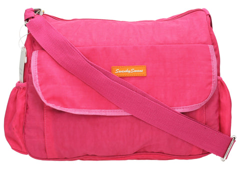 Joseph and Mary Baby Changing Satchel - Fuschia-Baby Changing-SWANKYSWANS