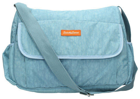 Joseph and Mary Baby Changing Satchel - Light Blue-Baby Changing-SWANKYSWANS