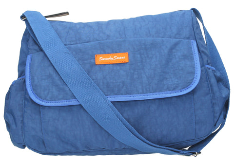 Joseph and Mary Baby Changing Satchel - Dark Blue-Baby Changing-SWANKYSWANS