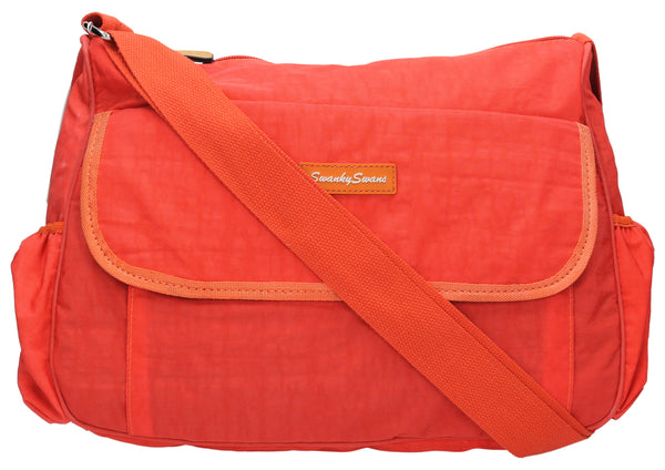 Joseph and Mary Baby Changing Satchel - Orange-Baby Changing-SWANKYSWANS