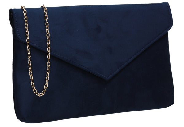 SWANKYSWANS Rosa Clutch Bag Navy Cute Cheap Clutch Bag For Weddings School and Work