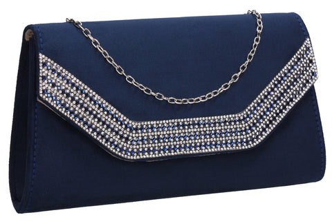Beautiful Summer Winter Clutch Bag perfect for a party!Harper Clutch Bag Navy Blue SWANKYSWANS