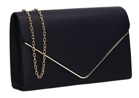 Erica Envelope Clutch Bag Navy Blue