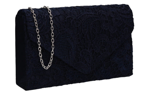 Holly Lace Clutch Bag Navy