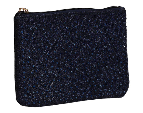 Sarah Slim Glitter Card Holder Coin Purse Navy Blue
