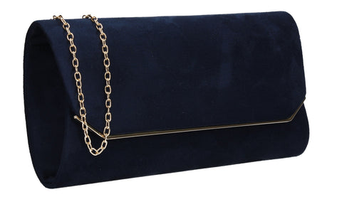 Anny Suedette Clutch Bag Navy Blue