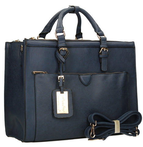 Swanky Swans Marcella Cosmo Handbag NavyPerfect for School, Weddings, Day out!