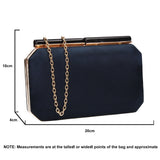 SWANKYSWANS Millie Clutch Bag Blue Cute Cheap Clutch Bag For Weddings School and Work