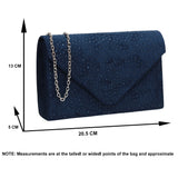 SWANKYSWANS Sidney Diamante Clutch Bag Navy Cute Cheap Clutch Bag For Weddings School and Work
