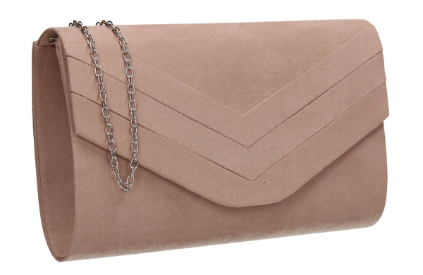 Samantha V Detail Clutch Bag Beige