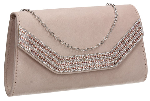 Beautiful Summer Winter Clutch Bag perfect for a party!Harper Clutch Bag Beige SWANKYSWANS