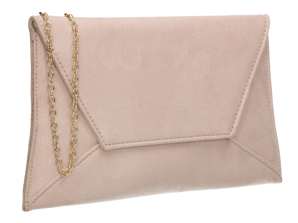 Dory Envelope Clutch Bag Beige