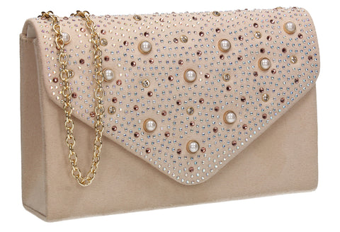 Laurel Clutch Bag Beige for Prom, Weddings And more!