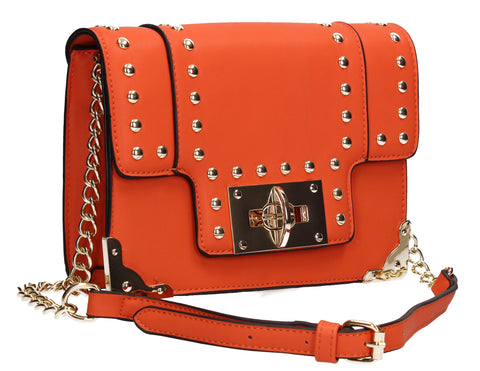 Swanky Swans Lilian Clutch Bag Orange Perfect for Back To School!