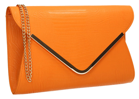 Lauren Clutch Bag Orange